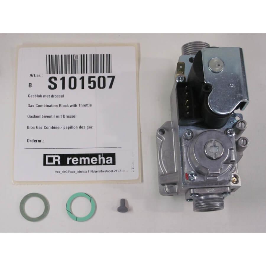 Remeha gasblok met drossel-S101507 Nr. 3001